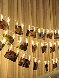 cheap -3M 20 LED Photo Clip Fairy String Lights Battery Powered for Pretty Photo Artwork Hanging Pictures Christmas Party Indoor Decoration