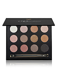 1Pcs Eyeshadow Palette Waterproof Natural Makeup Eye Shadow Professional Naked Makeup Eyeshadow Powder Smoky 12 Colors