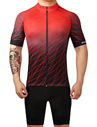 cheap -FUALRNY® Men's Short Sleeve Cycling Jersey with Bib Shorts Bike Clothing Suits, Quick Dry, Sweat-wicking Coolmax® / Lycra