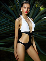 Monokini Da donna Push up Monocolore All'americana Poliestere