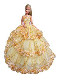 Fête / Soirée Robes Pour Poupée Barbie Robes Pour Fille de Jouets DIY