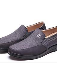 Homens sapatos Tecido Primavera Outono Conforto Mocassins e Slip-Ons Caminhada para Casual Ao ar livre Cinzento Escuro