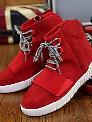 Men's Sneakers Comfort Summer Fabric Casual Black Gray Ruby Flat