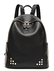 cheap -Women's Bags PU Oxford Cloth Backpack Rivet for Wedding Event/Party Casual Sports Formal Office & Career Outdoor All Seasons Black