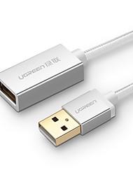 UGREEN USB 2.0 Prolunga, USB 2.0 to USB 2.0 Prolunga Maschio/femmina 2.0m (6,5 piedi)
