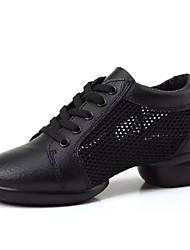 Недорогие -Для женщин Спортивная обувь Удобная обувь Резина Весна Осень Удобная обувь Шнуровка На низком каблуке Белый Черный Менее 2,5 см