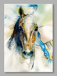 cheap -Hand-Painted Animals Vertical, High Quality Canvas Oil Painting Home Decoration One Panel