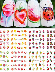 cheap -12Styles/set Summer Hot Fashion DIY Beauty Creative Lovely Fruit Ice Cream Design Nail Art Water Transfer Decals STZ489-500