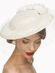 Lace Fabric Net Fascinators Hats Birdcage Veils Headpiece