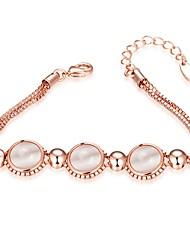 economico -Per donna Bracciali a catena e maglie Bracciali con ciondoli Zircone cubico Opal sintetico Natura Amicizia Gioielli film Gioielli di