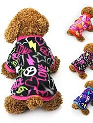 preiswerte -Katze Hund Mäntel T-shirt Pullover Hundekleidung Party Lässig/Alltäglich warm halten Herzen Schwarz Fuchsia Blau