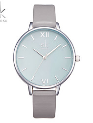 Women's Fashion Watch Wrist watch Chinese Quartz Shock Resistant Large Dial PU Band Luxury Casual Minimalist Grey