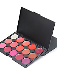Pro Lip Cream Palette Lipstick Kit  Lip Gloss Makeup Jelly Professional Beauty Case 15 Color Range Shimmery Set