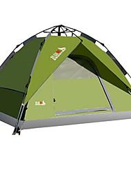 Недорогие -BSwolf 4 человека Автоматический тент На открытом воздухе Водонепроницаемость Дожденепроницаемый Защита от пыли Двухслойные зонты Палатка 2000-3000 mm для Отдых и Туризм Терилен Стекловолокно