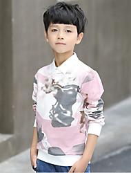 Boys' Print Blouse,Cotton Polyester Fall Long Sleeve Blushing Pink Light Blue