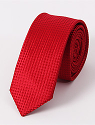 Men's Business Casual Ultra-Narrow Polyester Jacquard Tie