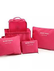 6 set Organizer per valigia Contenitori da viaggio Accessori per valigia per Abbigliamento Nylon per