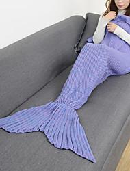 Недорогие -Одеяла Дорожный плед Чрезвычайная Одеяло На каждый день Русалка
