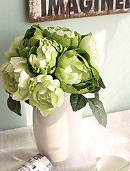 cheap -11inch Large Size 12 Heads Silk Polyester Roses Tabletop Flower Artificial Flowers