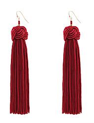 cheap -Women's Tassel Drop Earrings - Tassel, Bohemian, Fashion Yellow / Red / Green For Wedding / Anniversary / Housewarming