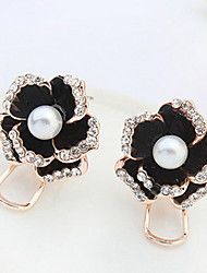 Women's Girls' Stud Earrings Rhinestone Imitation PearlBasic Unique Design Pearl Friendship British Classic Elegant Floral Durable Sexy