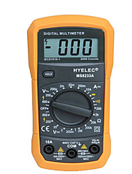 HYELEC MS8233A 2000 Counts Mini Professional Digital Multimeter LCD Display Electrical Handheld Tester Ammeter Multimetro