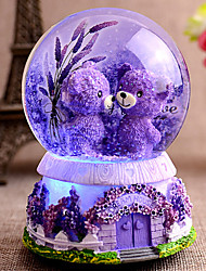cheap -Light snow crystal ball music box music box to send his girlfriend a birthday gift for children bestie