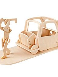 economico -Macchinine giocattolo Puzzle 3D Puzzle Set giocattoli per golf Modello in legno Giocattoli Velivolo Edificio famoso Arredi Golf