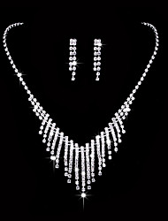 Damen Tropfen-Ohrringe Halsketten Braut-Schmuck-Sets Strass Kubikzirkonia Klassisch Elegant Hochzeit Party Verlobung Zeremonie