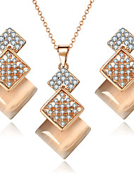 cheap -Women's Jewelry Set Necklace/Earrings Bridal Jewelry Sets Crystal Rhinestone Synthetic Opal Luxury Dangling Style Pendant Rhinestone