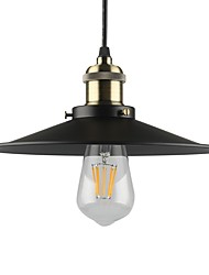 cheap -Vintage Black Pendant Lights 1-light Metal Living Room Dining Room Hallway Diameter 10.2in Pendant Lighting