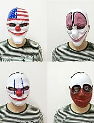 Nouvelle mode 1pc pvc masque de clown effrayant masque de Halloween pour antifaz fête mascara carnaval costume de fantaisie
