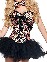 cheap -Costumes Animal Costumes Halloween/Christmas/Carnival Black Leopard Skirt/Pants/Zentai/Tail/Tie/Headwear