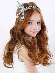 Girl's Rhinstone Headband Bow Tie Beading Princes Crown Hair Accessory