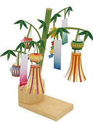 Недорогие -3D пазлы Оригами Фонариком Бамбук Предметы интерьера Своими руками Бамбук Классика Универсальные Подарок