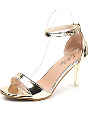 Women's Heels Basic Pump Light Soles Summer Patent Leather PU Walking Shoes Dress Party & Evening Sequin Stiletto Heel Gold Silver 5in &