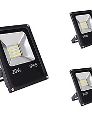 cheap -3pcs 20W LED Floodlight Waterproof Decorative Outdoor Lighting Home/Office Everyday Use Warm White Cold White DC12-80V