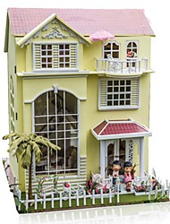 cheap -Toys Extra Large DIY House Natural Wood Classic Pieces Not Specified Gift