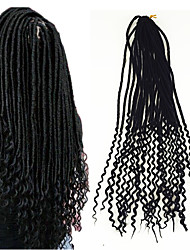 American Fashion Women HairStyle 18 inch soft dread Bouncy Curl Curls Ombre Kanekalon Curly Braiding faux locs Bouncy Curl Crochet 5packs make head