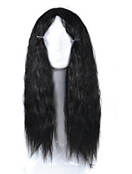 Europe and the United States Big Wave Ladies Animation Headgear Black Corn Long Curls Cosplay Wigs Head Sets 26inch
