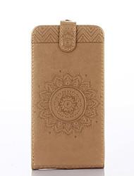 preiswerte -Für Samsung Galaxy Grand Prime Case Cover Kartenhalter mit Standfuß geprägt Ganzkörper-Gehäuse Normallack Blume hart PU Leder
