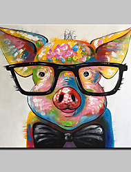 cheap -Large Size Hand Painted Piggy Animal Oil Painting On Canvas Wall Art Picture For Home Decoration No Frame