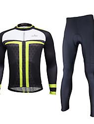 ILPALADINO Calça com Camisa para Ciclismo Homens Manga Longa Moto Meia-calça Tights Bib Conjuntos de Roupas Prova-de-Água Secagem Rápida