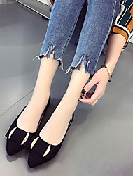 Women's Flats Comfort Light Soles Spring Fall Patent Leather Casual Dress Bowknot Flat Heel Black Gray Army Green Blushing Pink Flat
