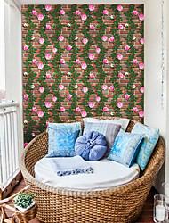 abordables -Floral Art Decó 3D Fondo de pantalla Para el hogar Moderno / Contemporáneo Revestimiento de pared , PVC/Vinilo Material Auto Adhesivos