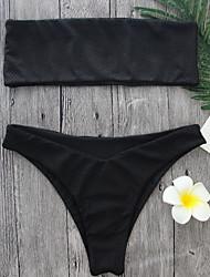 cheap -2017 Newest Black Color  Bikini Women's Bikini Strapless Bikini Sets Sexy Style Swimming Suits