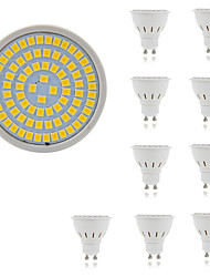10pcs 5W GU10/GU5.3(MR16) LED Spotlight 80leds SMD2835 Warm/Cold White 400lm Led Bulb AC220-240V