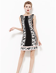 cheap -Women's Work Sheath Dress Print