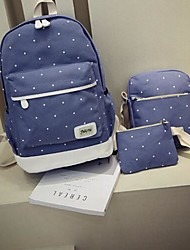 Women Bags All Seasons Canvas Backpack 3 Pcs Purse Set for Casual Blue Green Red