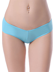 cheap -Women's Solid Ultra Sexy Panties Thin 1pc Black Blushing Pink Light Blue Khaki